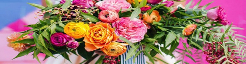 Banner de flores preciosas