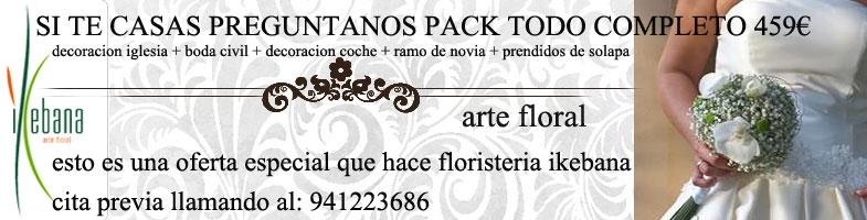 Oferta pack de bodas