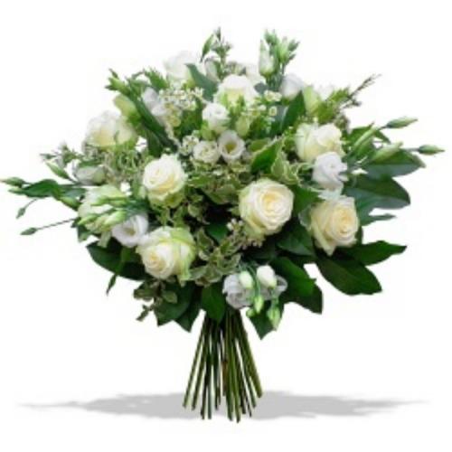 Ramo flor fresca variada blanco