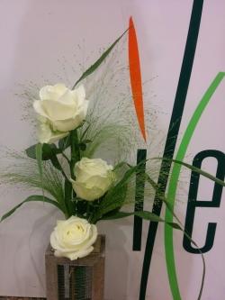 Centro flor variada en cristal
