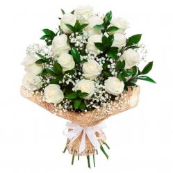 Ramo 18 rosas blancas