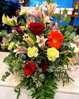 Ramo flor fresca funeral