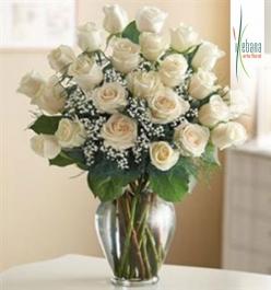 Ramo 24 rosas blancas funeral