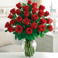 Ramo 24 rosas rojas frescas funeral