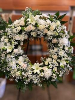 Corona de flor fresca funeral