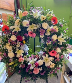 Corona de flor fresca