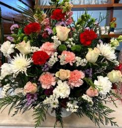 Centro flor  fresca funeral