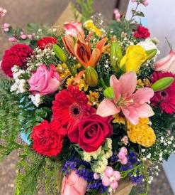 Ramo girasoles con flor variada