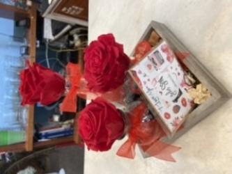 Centro de rosa eterna o preservada