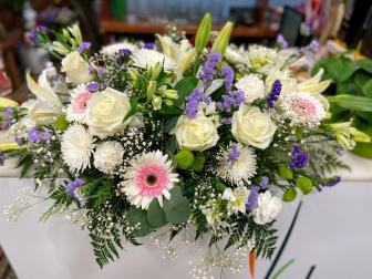 Corazon flor variada