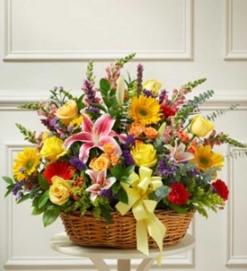 Cesta flor  fresca variada